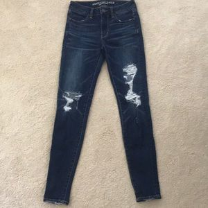 American Eagle Stretch Ripped High Rise Jeggings